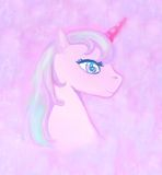 Illustration of beautiful pink Unicorn. Royalty Free Stock Images