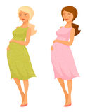 Illustration of a beautiful pregnant woman Royalty Free Stock Photos