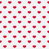 Illustration with  beautiful red hearts. Royalty Free Stock Image