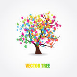 Illustration of beautiful spring tree Stock Photo