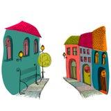 Illustration of beautiful street Royalty Free Stock Image