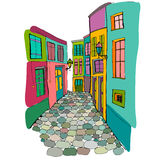 Illustration of beautiful street Royalty Free Stock Photography