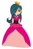 Illustration of beautiful sweet princess Royalty Free Stock Photos