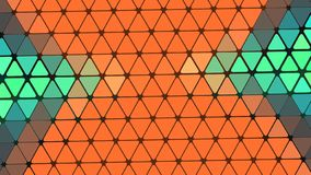Beautiful wallpaper banner with, Abstract design, geometric Patterns, Triangles, Net Wires, Orange, Blue Shining  shades Texture. An Illustration Beautiful royalty free illustration