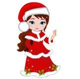 Illustration of beautiful winter christmas princess. Royalty Free Stock Photos