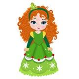 Illustration of beautiful winter christmas princess. Stock Photography
