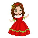 Illustration of beautiful winter christmas princess. Stock Photo
