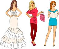 Illustration of beautiful women Royalty Free Stock Image
