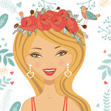 Illustration of beautiful young woman. Colorful illustration of beautiful young woman in vector format Royalty Free Stock Photo