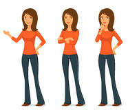 Illustration of a beautiful young woman in jeans Royalty Free Stock Photography