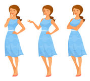 Illustration of a beautiful young woman Royalty Free Stock Image