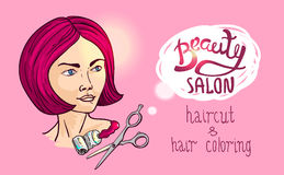 Illustration beauty salon Royalty Free Stock Images