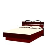 Illustration of bed Royalty Free Stock Photo
