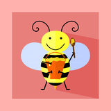 Illustration of bee Stock Photography