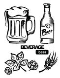 Illustration of beer Stock Photo