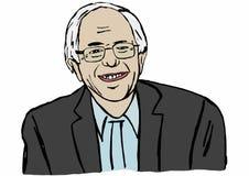 Illustration of Bernie Sanders running for presidential Stock Images