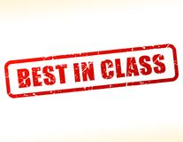 Best in class text buffered. Illustration of best in class text buffered on white background Royalty Free Stock Image