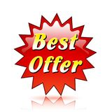 Best offer red star icon Royalty Free Stock Photos