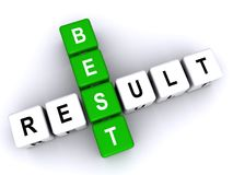Best result crosswords. An illustration of best result crosswords on a white background Royalty Free Stock Photos
