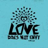 Illustration biblique Chrétien typographique L'amour n'envie pas, 1 13:4 de Corinthiens illustration de vecteur