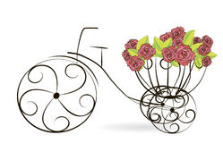 Floral bicycle Stock Photo