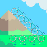 Illustration bicycle Royalty Free Stock Images