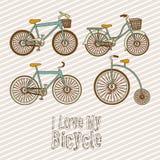 Illustration of Bicycle Stock Image
