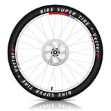 Illustration Bicycle wheel with a best sports tire on white. Background. Bike tire icon royalty free illustration