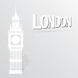Illustration with big ben icon Royalty Free Stock Images