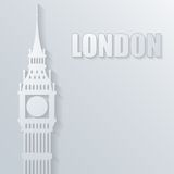 Illustration with big ben icon Stock Photography
