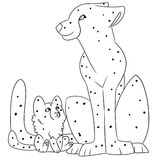 Illustration of a big cats Royalty Free Stock Photos