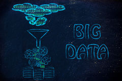 Illustration of big data, file transfes and sharing files Royalty Free Stock Photography