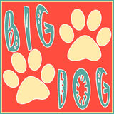 Illustration of a big dog for a poster  Stock Images