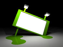 Illustration of a big green melting billboard Stock Image