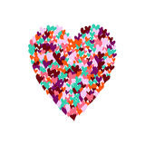 Illustration of big heart shape filled with hearts Royalty Free Stock Photos