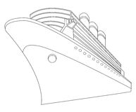 She. Illustration of a big ship Royalty Free Stock Photography