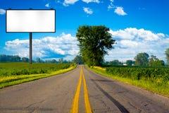 Illustration: Big Tall Billboard. On road Royalty Free Stock Photo