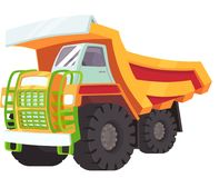 An illustration of a big yellow transporter vector illustration