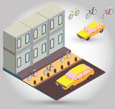 Illustration of bike lane concept Stock Image