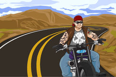 Biker with tattoo Royalty Free Stock Photo