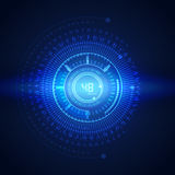 Illustration of binary code on abstract technology background. Innovation Royalty Free Stock Image