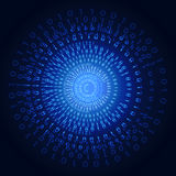 Illustration of binary code on abstract technology background Stock Photography