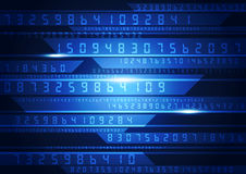 Illustration of binary code on abstract technology background. Vector innovation Royalty Free Stock Photo