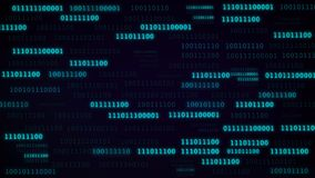 Illustration of binary code in blue color. Royalty Free Stock Photography