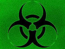 Illustration biohazard background Royalty Free Stock Photos
