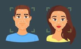 illustration biométrique d'identification de visage illustration libre de droits