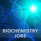 Illustration biotechnologique de la profession 3d de signification des travaux de biochimie illustration stock