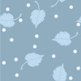 Seamless vector pattern. Birch leaves in hoarfrost Stock Image