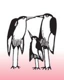 Illustration of bird family Royalty Free Stock Photos