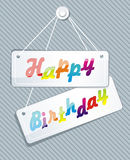 Illustration of birthday card. Illustration of birthday letters on the wall Royalty Free Stock Photos